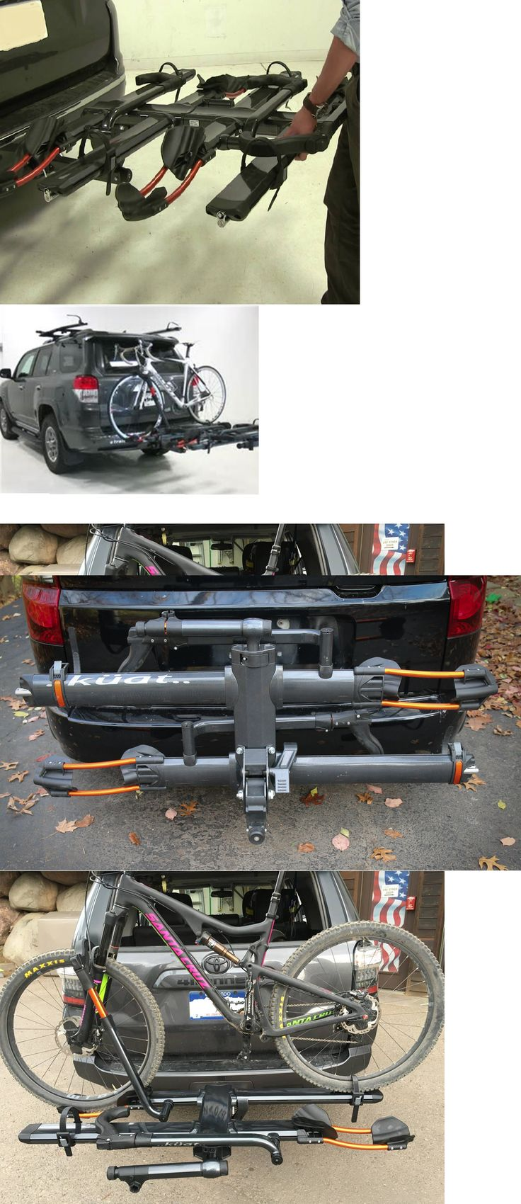 Carrier and Pannier Racks 177836: New! Kuat Nv 2.0 Add-On Hitch Rack Gun Metal Gray And Orange Bike Rack For Nv 2.0 -> BUY IT NOW ONLY: $385.87 on eBay!
