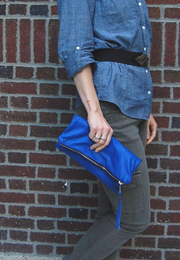 DIY forrado de couro tutorial embreagem