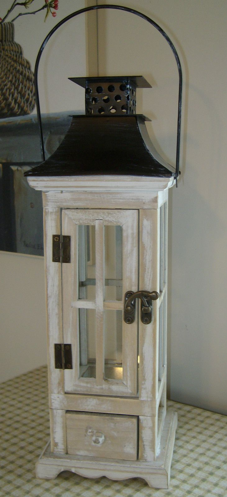Wood outdoor lamp post - Rustic Wooden Lantern One On Each Post Of The Back Deck Yes Please