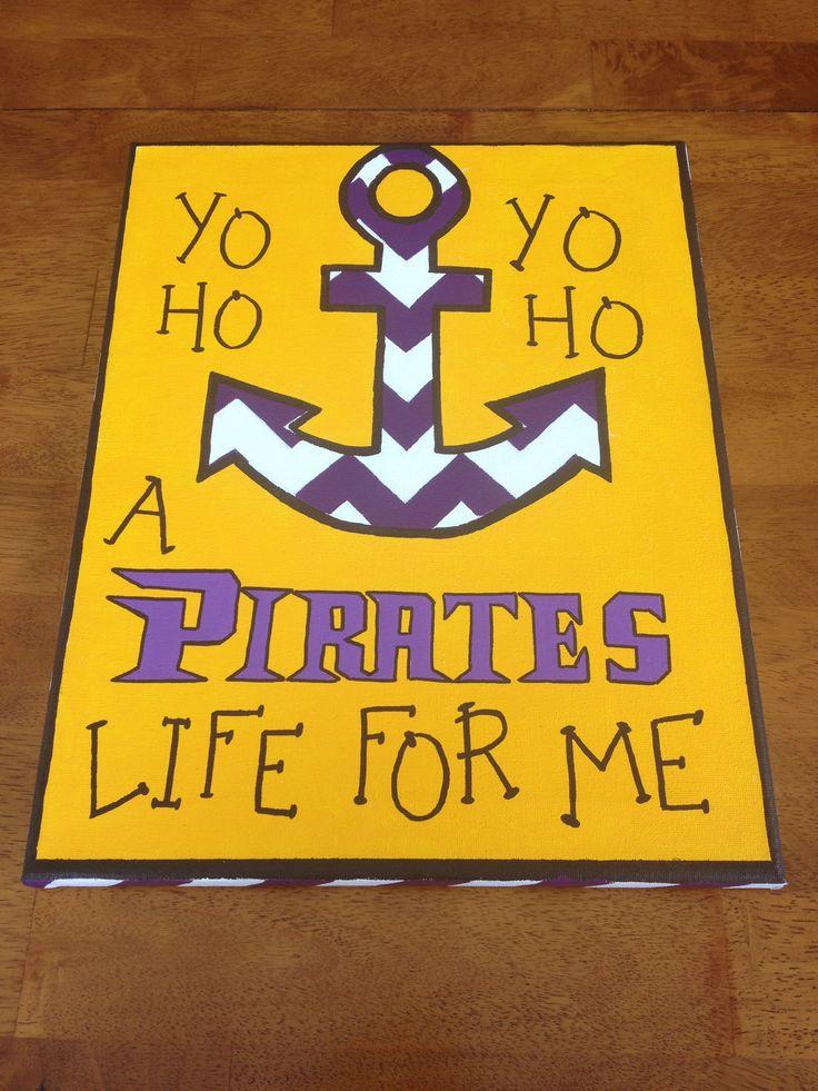 ECU Pirates Life For Me canvas