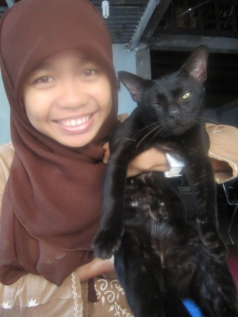 "Me and My cattty . He's name is ""Kucem"" :)"