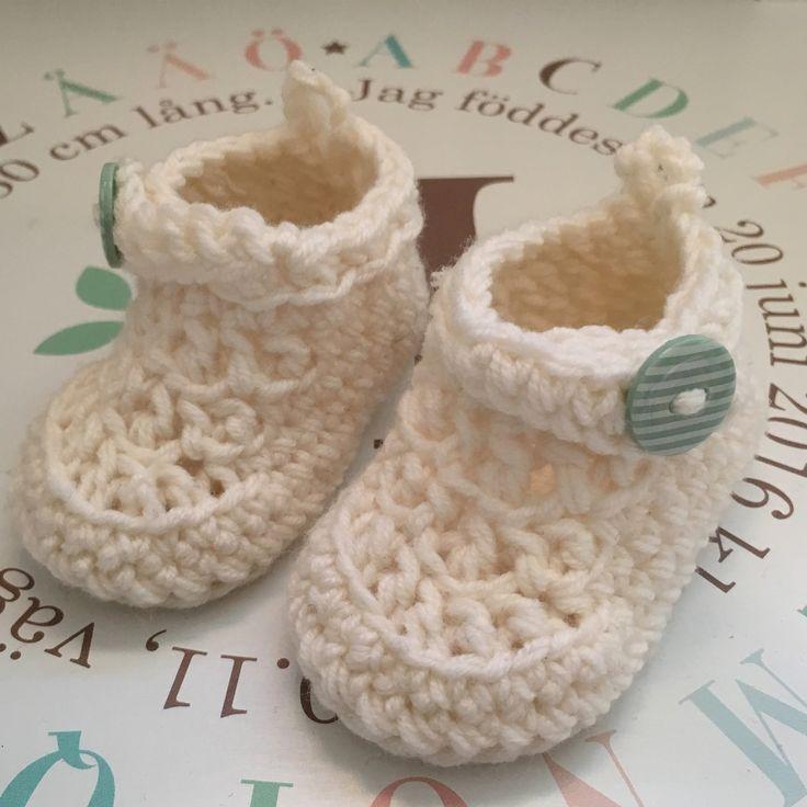 #babyskor #virkadeskor #crochet #virkat