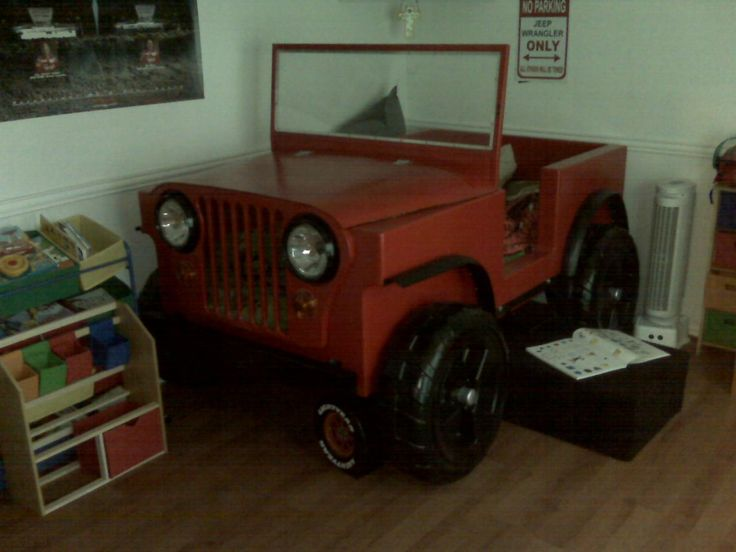 jeep bed for any cool kid!