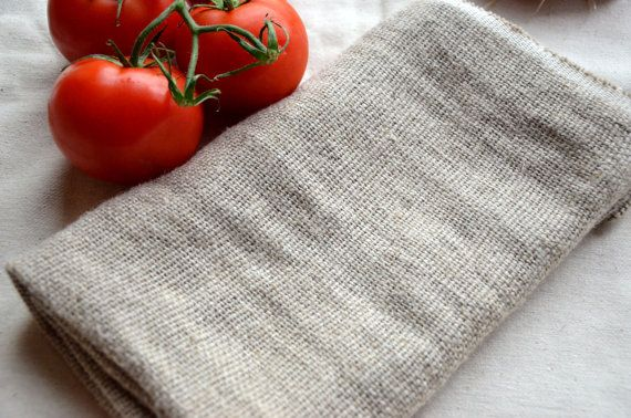 Linen napkins Rough Linen Dish Towel Natural by ForestSongClothes