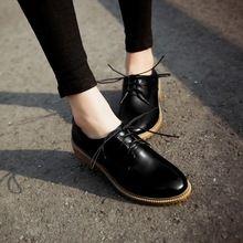 Más el tamaño 43 clásico europa mujeres simples wy18100s oxford zapatos de  la señora retro cepillado