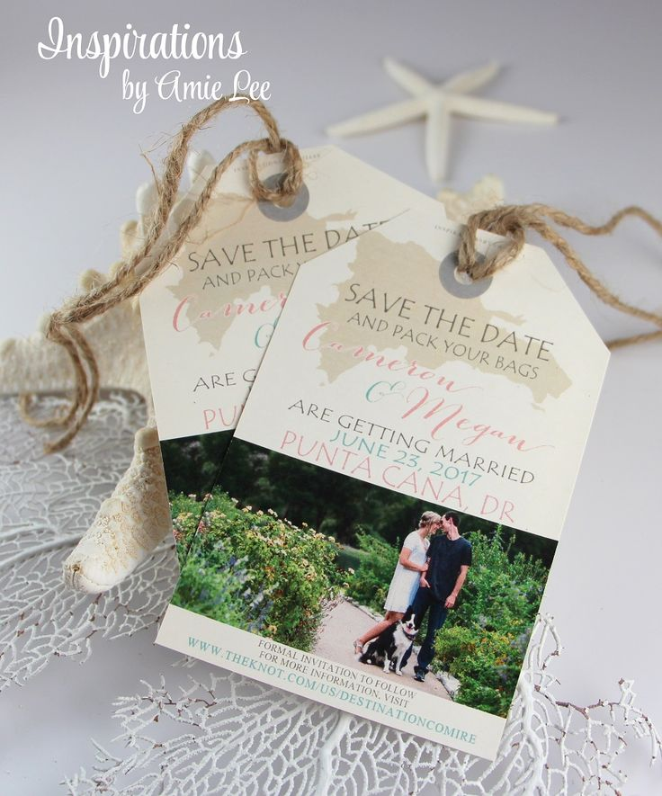 destination wedding invitation rsvp date%0A Save The Date Luggage tags  destination wedding