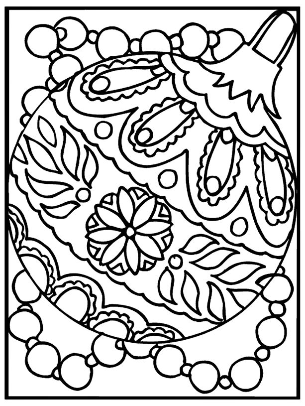 Free Coloring Pages Christmas Ornaments Coloring Page Art