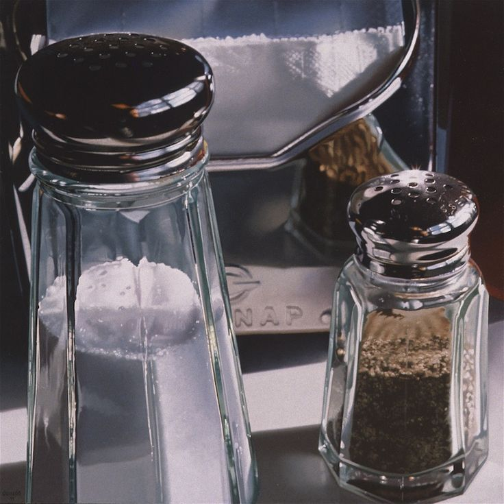 Selected Paintings   Ralph Goings- Two Shakers Close-Up, 1991, oil