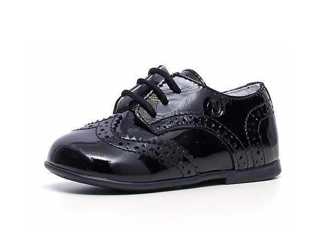 Naturino 4899 Black Patent Leather Baby Boy Toddler Dress Shoes 21 Us 5 Nib 85