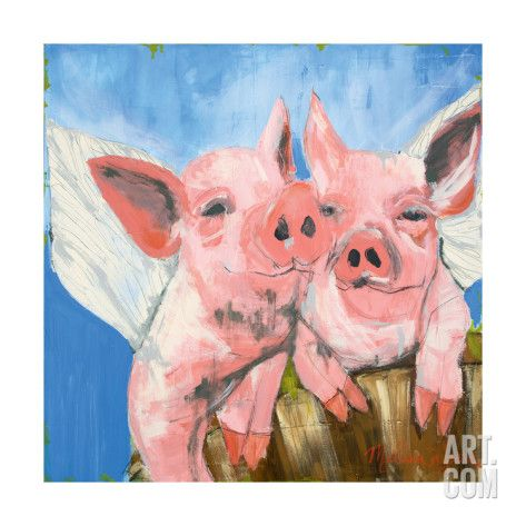 Art.fr - Reproduction d'art 'When Pigs Fly' par Melissa Lyons