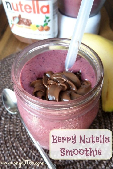 Smoothie Recipes – Berry Nutella Smoothies