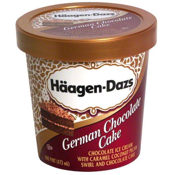 haagen dazs ice cream | Haagen-Dazs Ice Cream, German Chocolate Cake Image