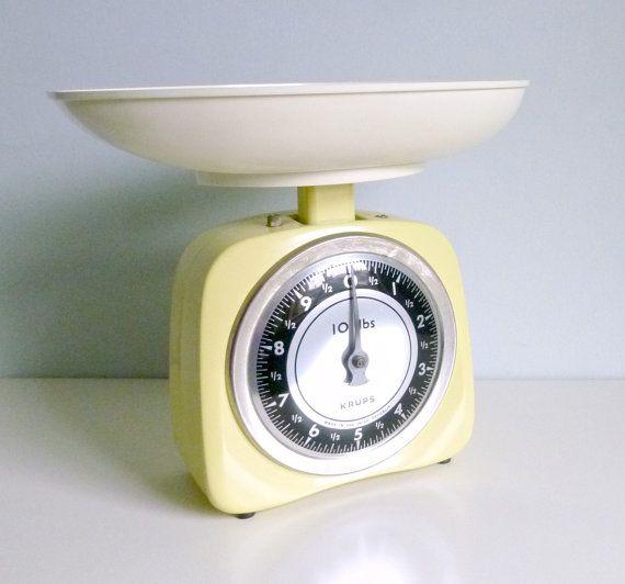 Mid Century Modern Kitchen Scales  KRUPS Germany  by mungoandmidge