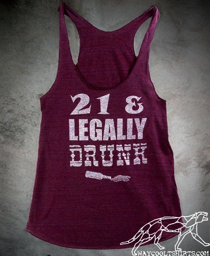 Womans 21st BIRTHDAY Racerback Tank Top  21 and by waycooltshirts, $22.00