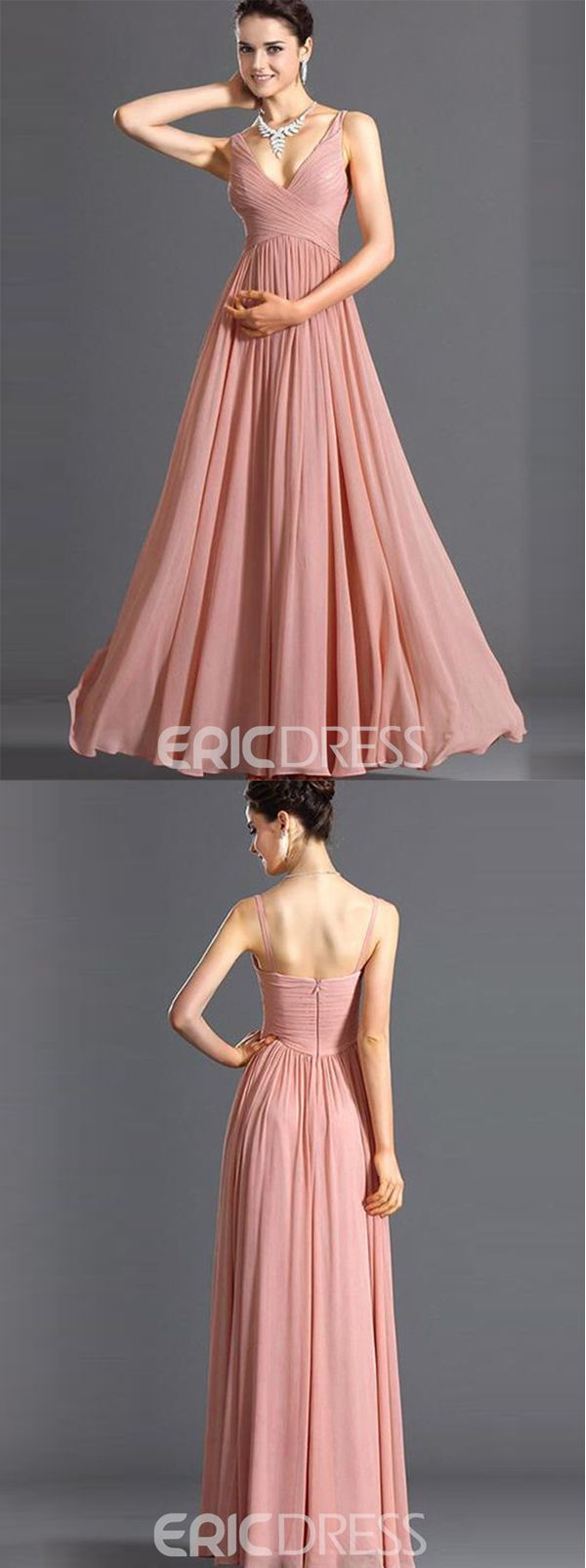 Ericdress V-Neck Backless Sleeveless Maxi Dress|French Romantic