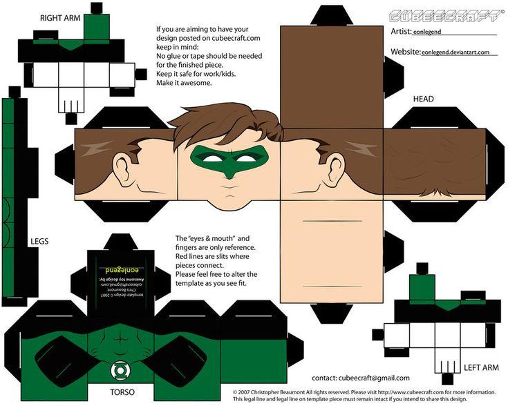 Green Lantern Cubeecraft