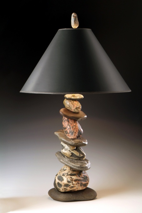 17 Best Images About River Rock Lamps On Pinterest Diy