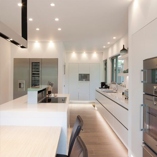 glamorous soft lighting for the contemporary kitchen