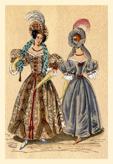 Ladies with Feathered Hats 20x30 poster