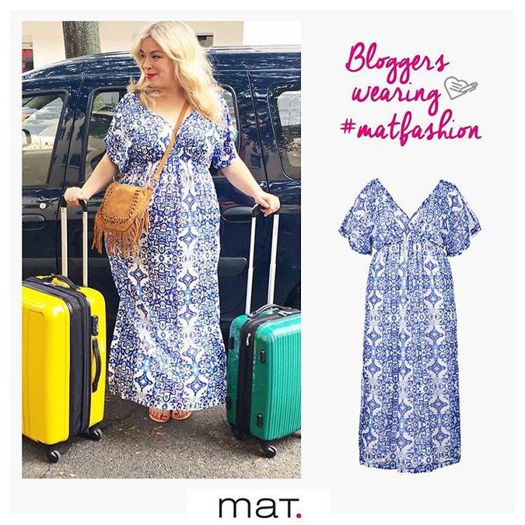 Plus size fashion bloggers love #matfashion ! Οι plus size fashion bloggers αγαπάνε τα #matfashion ρούχα! Έτοιμη για διακοπές η γνωστή blogger Megabambi @megabambi.de από τη Γερμανία, φορώντας εντυπωσιακό maxi φόρεμα της αγαπημένης μεσογειακής συλλογής Azulejos! (Κωδικός 651.7284) #matazulejos #fashion #trend #megabambi #fashionista #plussizefashion #plussizeblogger #wears_mat #summer2016 #porcelain #collection