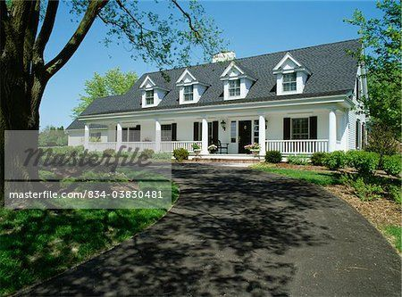 Black And White Exterior Farm House Exteriors Two Story