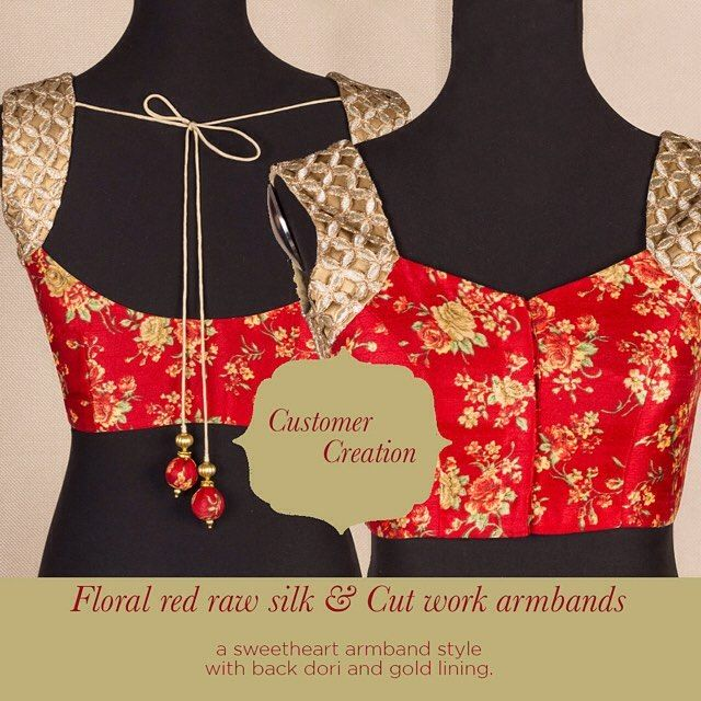 Our customer creations truly delight us! Check out this cooly combined raw silk and cutwork. Chic to the tee. Go ahead and give our 'STYLE CREATOR' a whirl - combine in ways you can only imagine :) Get inspired and create you own at http://ift.tt/1SDPHgc #customercreation #rawsilk #floral #red #sweetheart #armbands #cutwork #chic #blouse #love #houseofblousedotcom