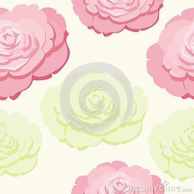 Beautiful tropical seamless pattern of Rose Flowervector pattern