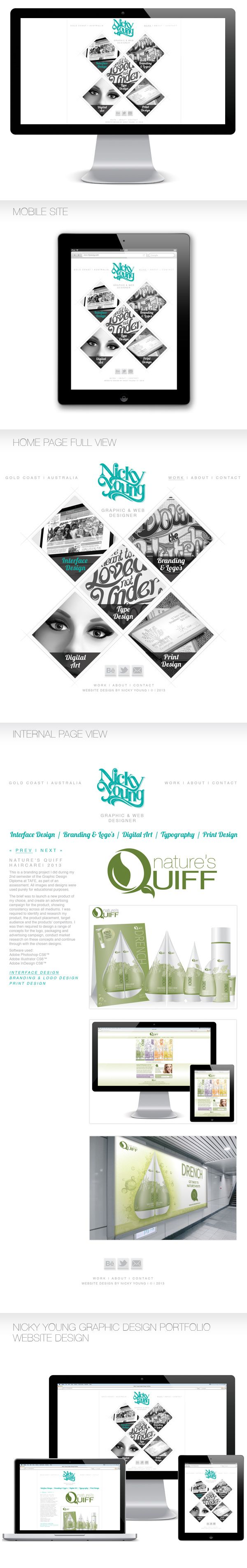 Personal Portfolio Website by Nicky Young, via Behance