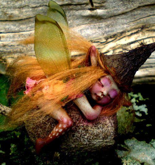 Tiny Woodland Forest Fairy by Celia Anne Harris
