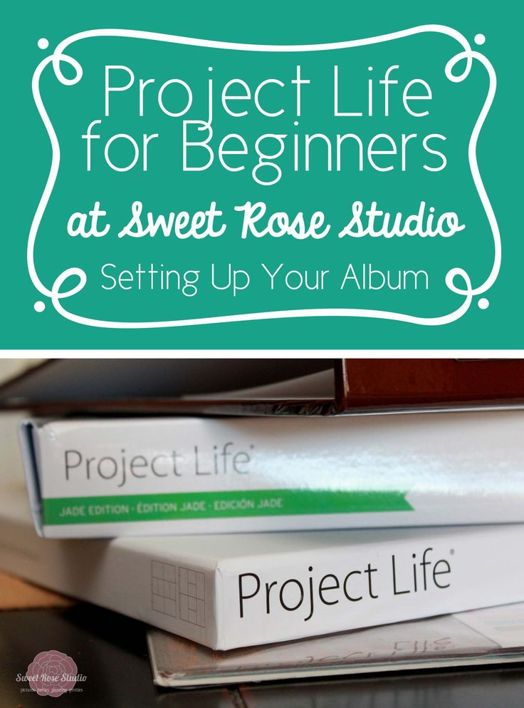 Project Life for Beginners: Start working on Project Life with this series at Sweet Rose Studio! Why haven't I done this yet?!?