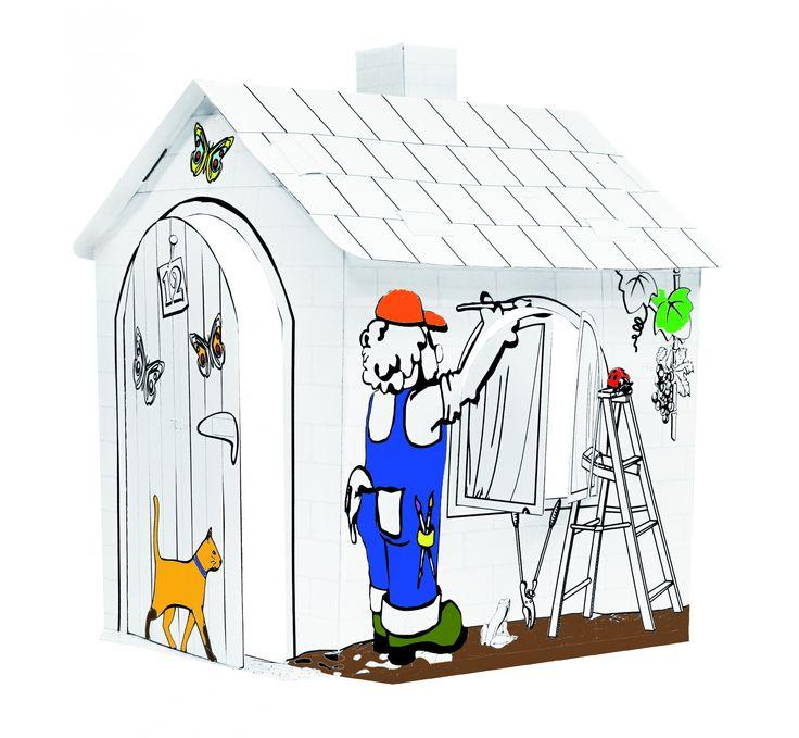 Domek tekturowy do malowania || #toys for #kids  || #christmas #gift #idea
