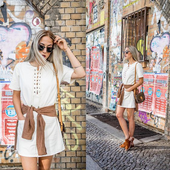 Get this look: http://lb.nu/look/7767758  More looks by Alison Liaudat: http://lb.nu/bangbangblond  Items in this look:  Topshop Laced Dress, Topshop Fringe Sandals, Ray Ban Clubmaster   #bohemian #edgy #preppy #outfit #laced #topshop #zalando #lollapalooza #festival