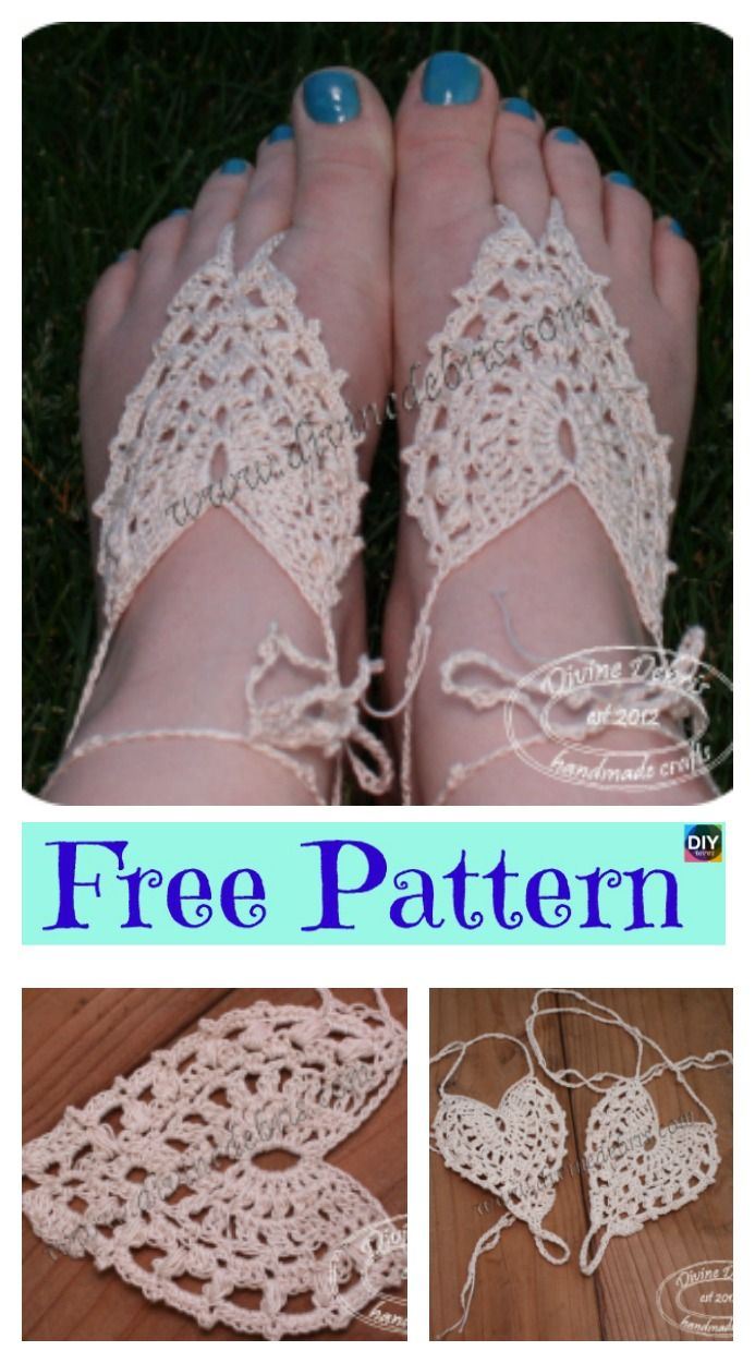 10 Most Unique Crochet Barefoot Sandals Free Patterns Rave