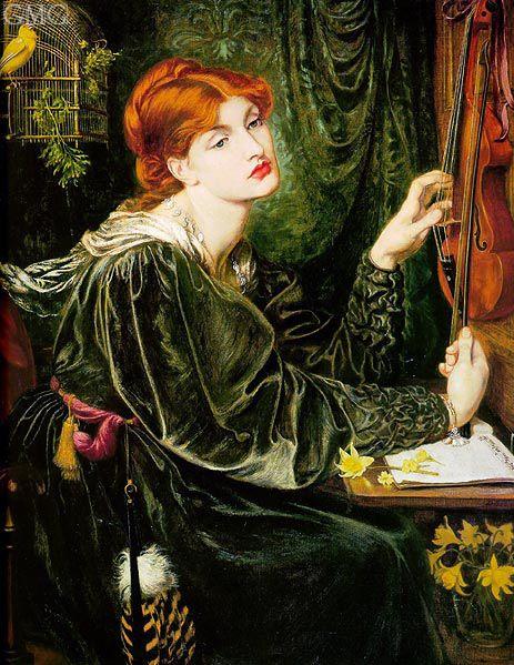 Title: Veronica Veronese (circa.1872)  Artist: Dante Gabriel Rossetti  Medium: Hand-Painted Art Reproduction
