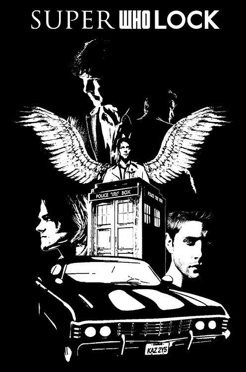 Superwholock Tshirt by HLstore on Etsy, $15.00. Yup Don is definitely buying me this for xmas. lol