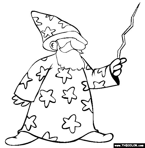 printable coloring pages wisards - photo#9