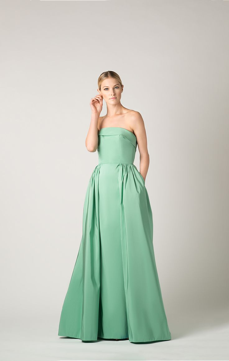 Silk Faille Strapless Flap Full Gown | Style | Full gown ...