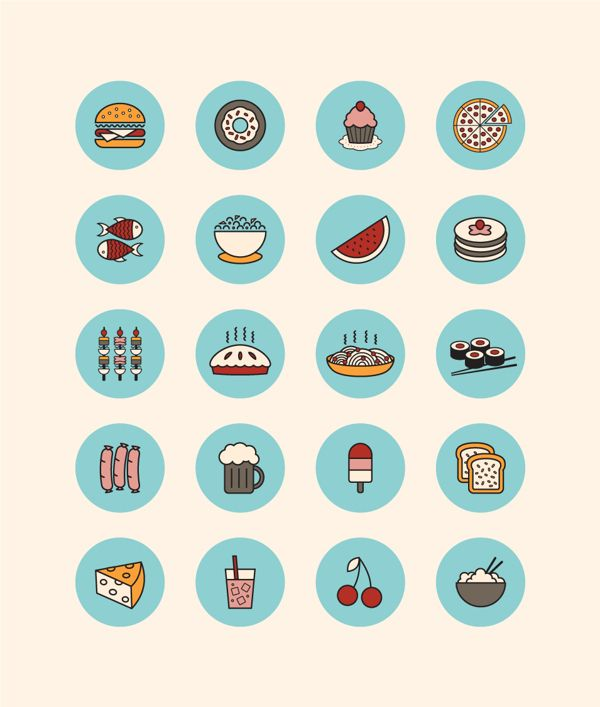 Food Icons on Behance
