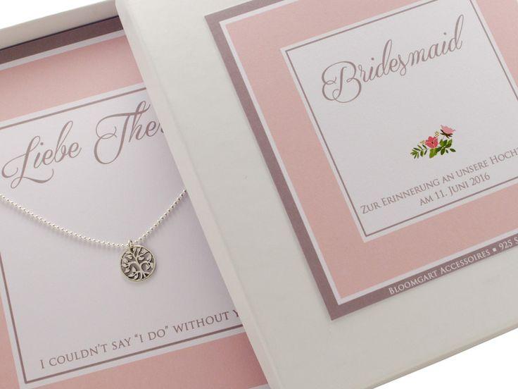 Brautschmuck - Hochzeit Kette Bridesmaid Braut Trauzeugin - ein Designerstück von Bloomgart bei DaWanda