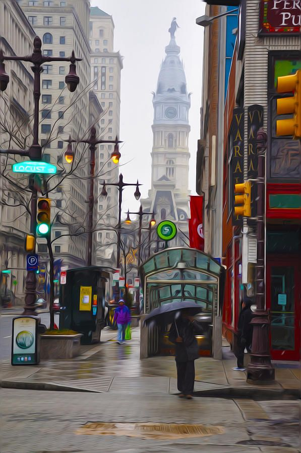 Downtown Philadelphia. I am from around here so it is a little background about me. Could be used in a future speech. Pinned from pinterest.