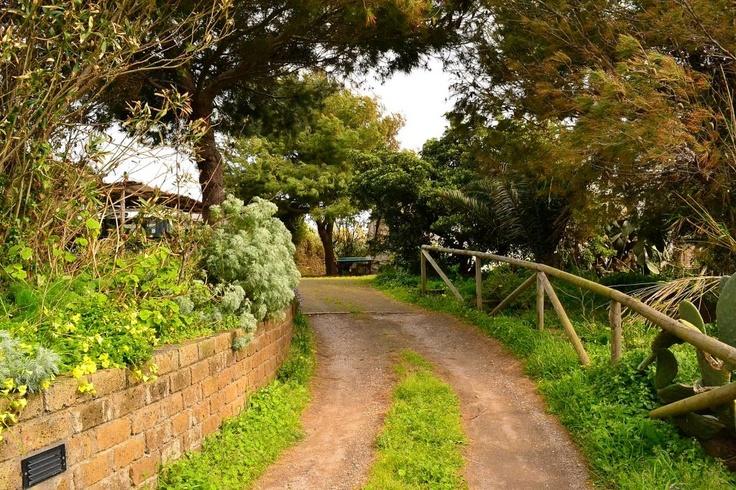 L'ingresso in Foresteria, dal vialetto che termina direttamente nel cortile interno.