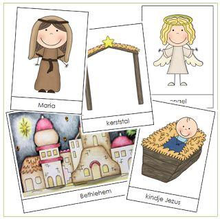 Kleuterjuf in een kleuterklas: Woordkaarten | Thema KERST