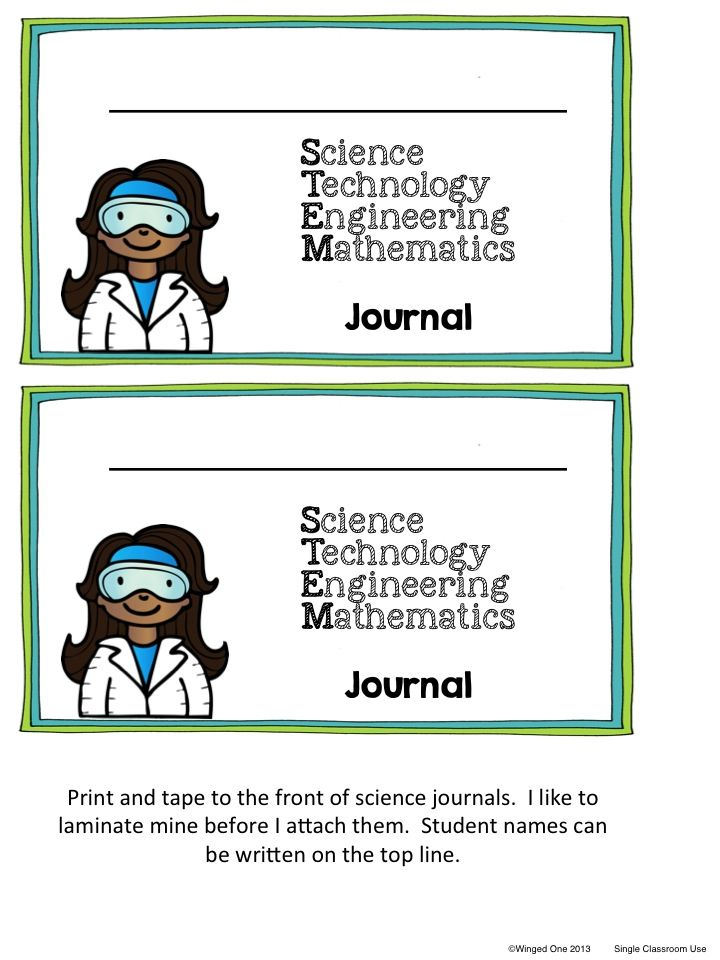 STEM Challenge Journals: STEMologist name tags, journal labels, STEM follow-up questions, posters $