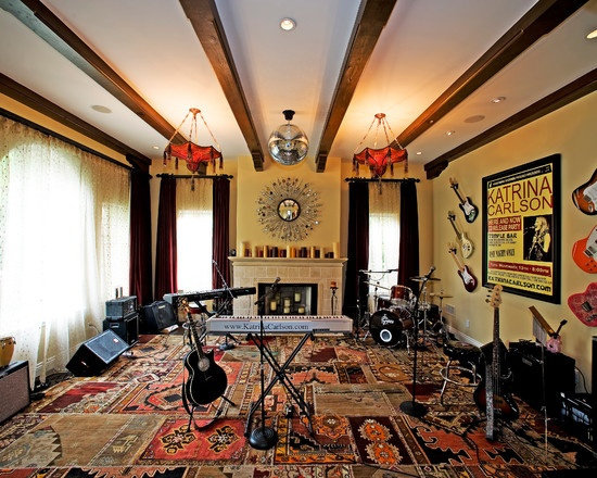 a great space to collaborate with other writers and musicians 15 design ideas for home music rooms and studios - Music Room Home Design Ideas