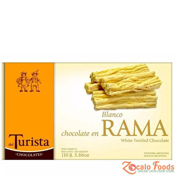 del Turista Chocolate en Rama Blanco 100g 3.88 oz