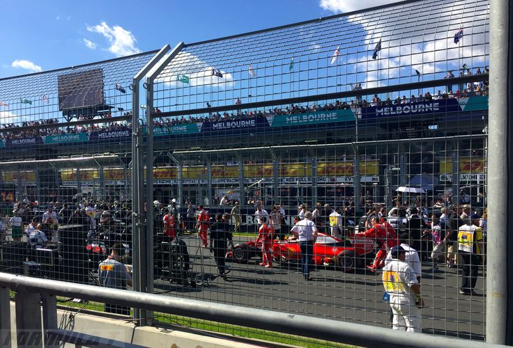 Getting into position...Melbourne F1 2016