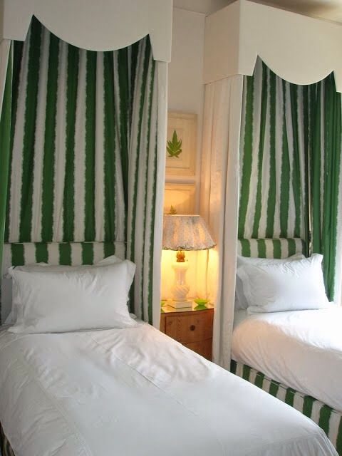 welcoming green stripes