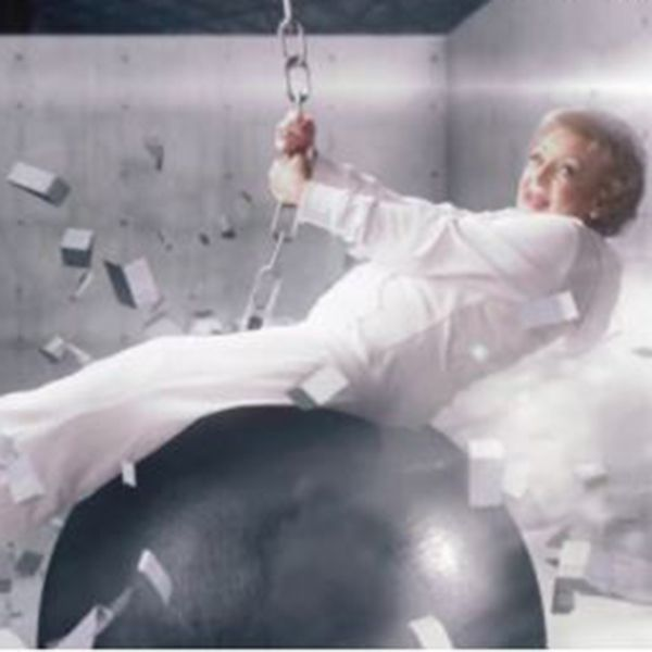 WATCH: Betty White spoofs Miley Cyrus with wrecking ball and foam finger
