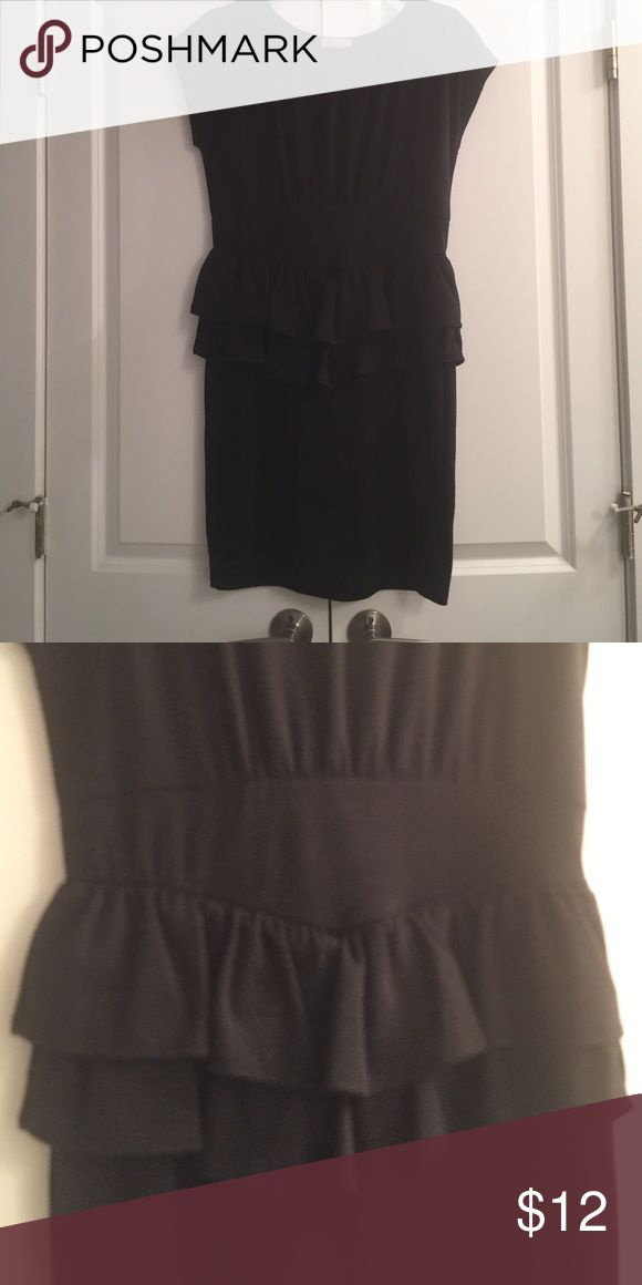 Black peplum dress Black peplum dress. Perfect for a dressy dinner or interview. Flattering fit. one clothing Dresses Midi