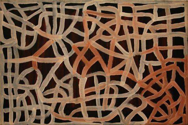 Emily Kame Kngwarreye / Arlatyite Dreaming - Bush Potato Dreaming 1995  122 x 183 cm